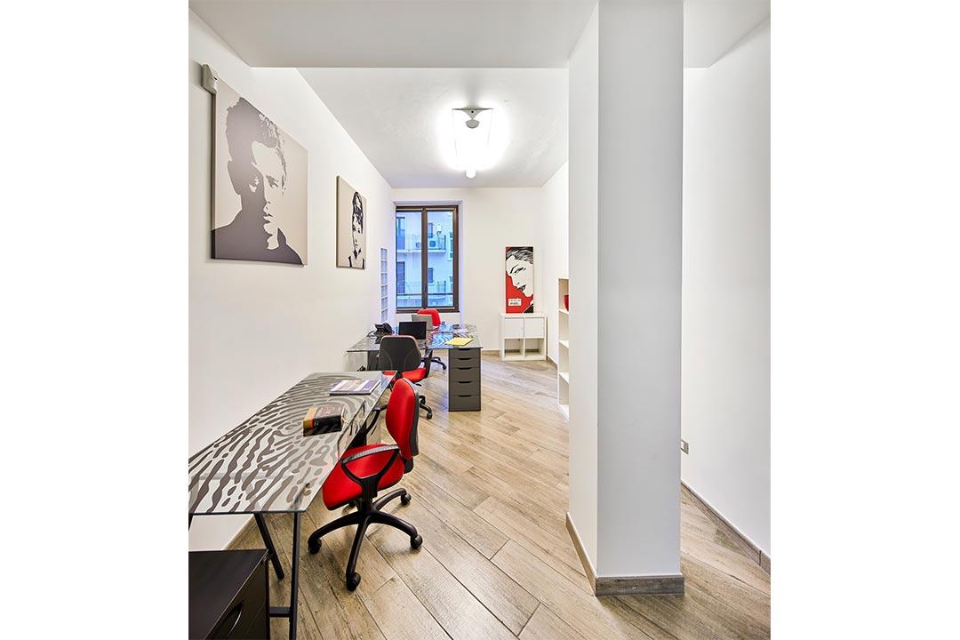 ufficio studio ufficio pavimento legno stile pop spazi esclusivi